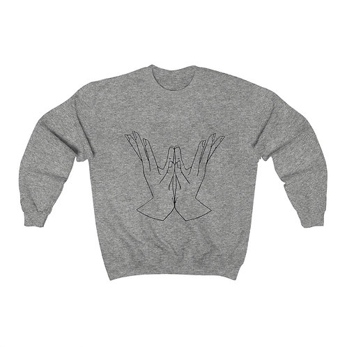 Lotus Mudra Line Art Unisex Heavy Blend™ Crewneck Sweatshirt
