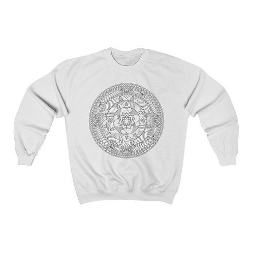 The Monk Sacred Geometry Mandala Unisex Crewneck Sweatshirt