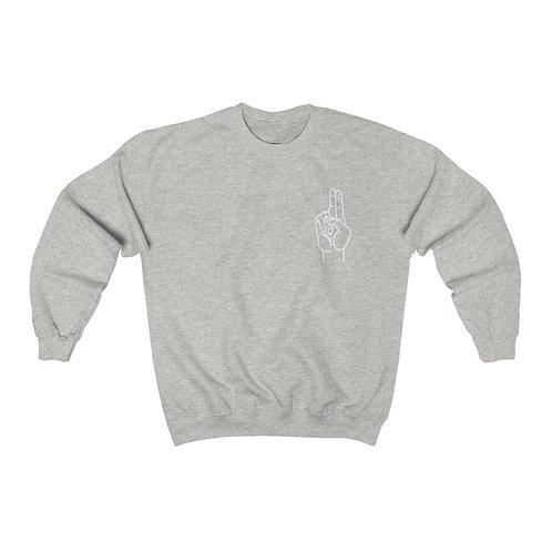 Prana Mudra Line Art Unisex Heavy Blend™ Crewneck Sweatshirt