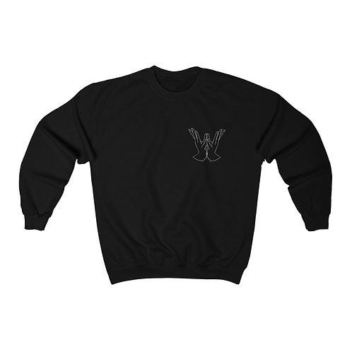 Padma (Lotus) Mudra Line Art Unisex Heavy Blend™ Crewneck Sweatshirt