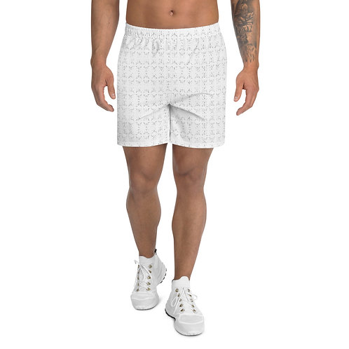 Lotus (Padma) Mudra Line Art Pattern Men's Athletic Long Shorts