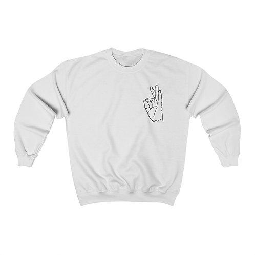 Gyan Mudra Line Art Unisex Heavy Blend™ Crewneck Sweatshirt