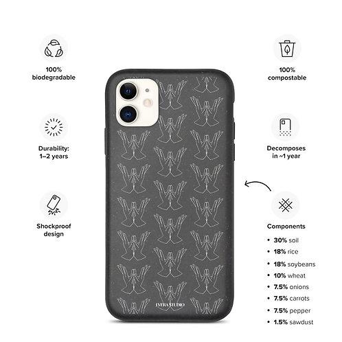 Padma (Lotus) Mudra Line Art Pattern Biodegradable iPhone Case