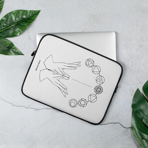 Chakra System & Lotus Mudra Laptop Sleeve
