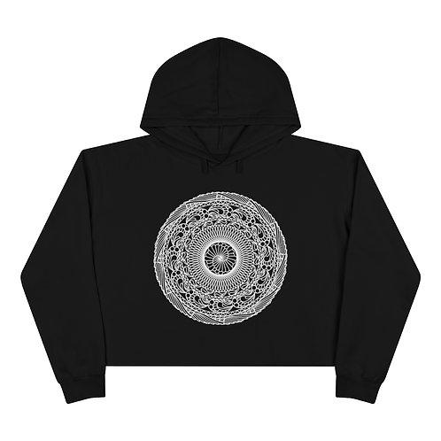 The Snail Sacred Geometry Mandala Crop Hoodie