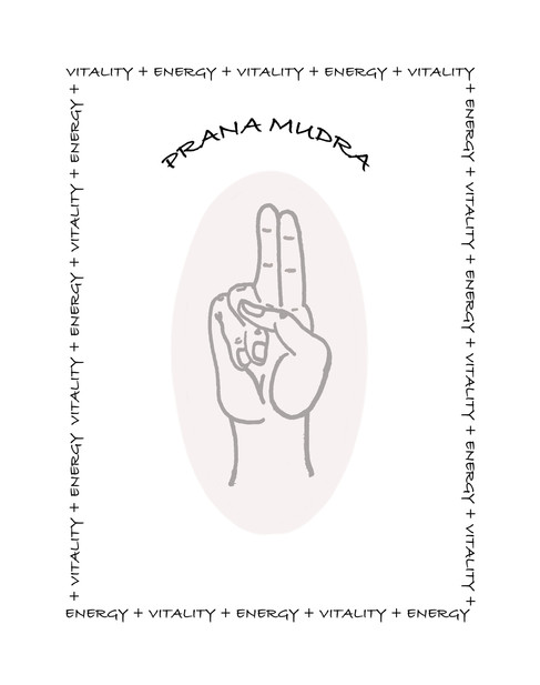 Prana Yoga Mudra Line Art Card