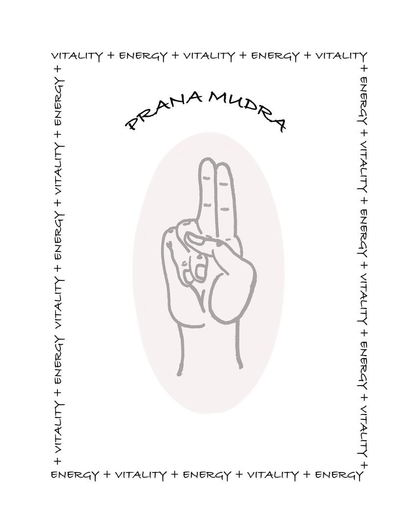 Prana Yoga Mudra Line Art Card
