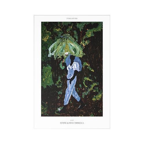 Femme & Her Umbrella Postcards (7 pcs)