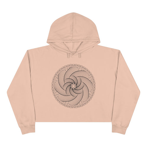 Helix Sacred Geometry Mandala Crop Hoodie