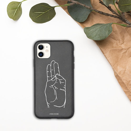 Buddhi Mudra Line Art Biodegradable iPhone Case
