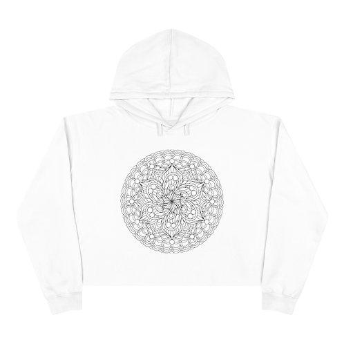 The Expanse Sacred Geometry Mandala Crop Hoodie