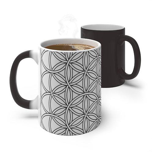 Flower of Life Sacred Geometry Color Changing Mug