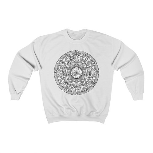 The Snail Sacred Geometry Mandala Unisex Crewneck Sweatshirt