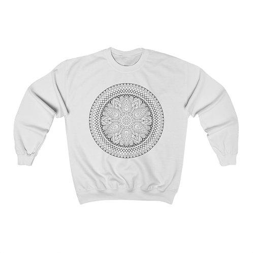 Aztec Sacred Geometry Mandala Unisex Crewneck Sweatshirt