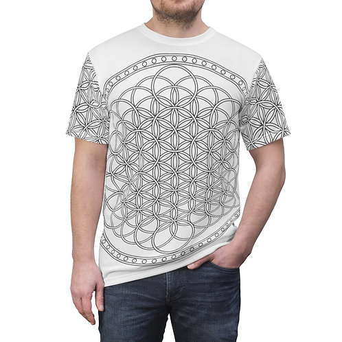 Flower of Life Sacred Geometry Quality Thick Microfiber Knit Tee