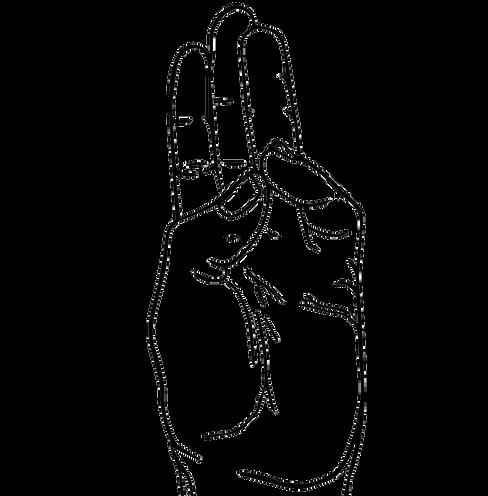 Buddhi Yoga Mudra Line Art