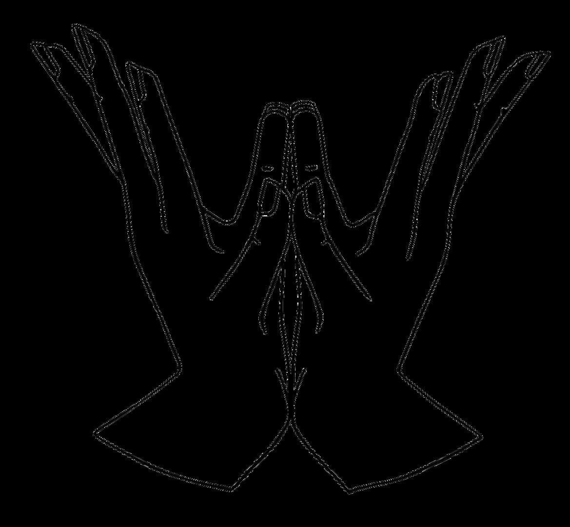 Padma (Lotus) Yoga Mudra Line Art