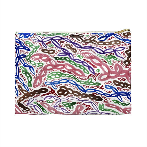 Colorful Abstract Art Pattern Accessory Pouch