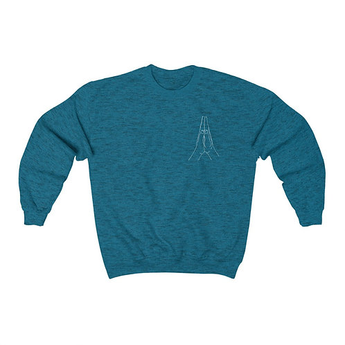 Anjali Mudra Line Art Unisex Heavy Blend™ Crewneck Sweatshirt