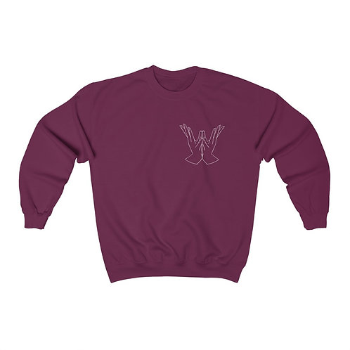 Lotus Mudra Line Art Unisex Heavy Blend™ Crewneck Sweatshirt