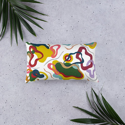 Colorful Abstract Art Pattern Pillow