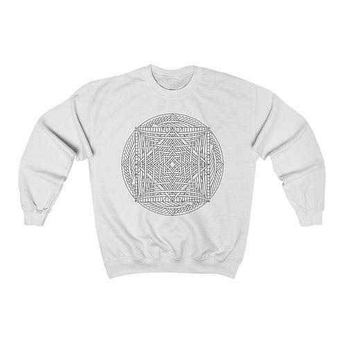 Infinite Mirror Sacred Geometry Mandala Unisex Crewneck Sweatshirt