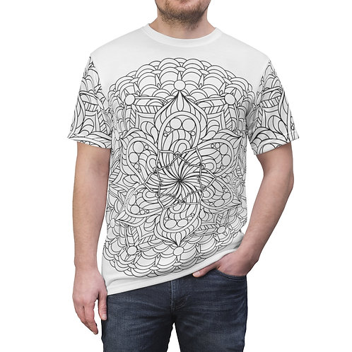 The Expanse Sacred Geometry Mandala Quality Thick Microfiber Knit Tee