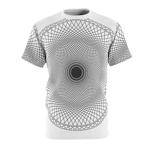 Black Hole Sacred Geometry Mandala Quality Thick Microfiber Knit Tee