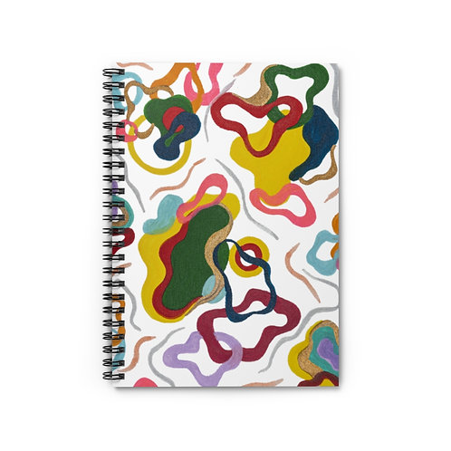 Abstract Art Pattern Spiral Notebook Ruled Line