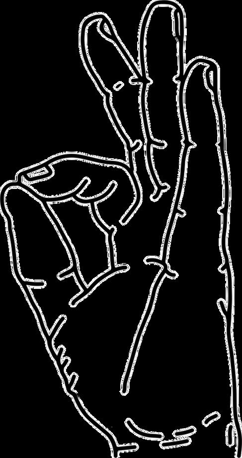 Gyan Yoga Mudra Line Art