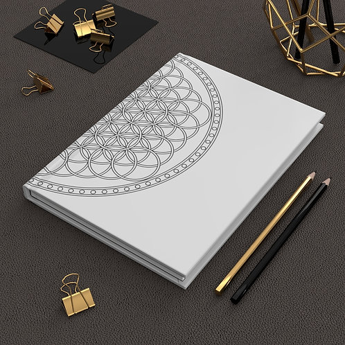 Flower of Life Sacred Geometry Hardcover Journal Matte