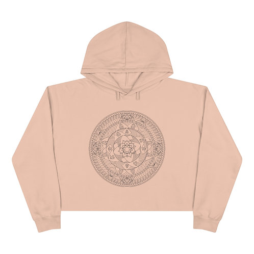 The Monk Sacred Geometry Mandala Crop Hoodie