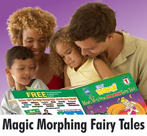 "children learn ""foreign languages"" ""hey wordy"" ""magic morphing fairy tales"""