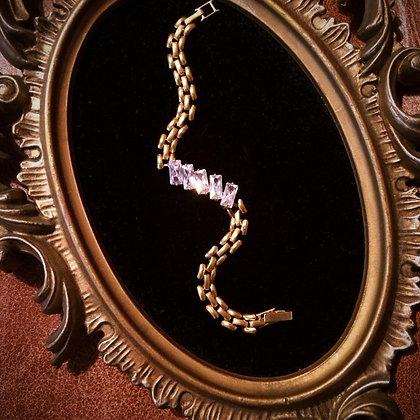 =Alice W 訂製款= 排鑽黃銅錶帶手鍊