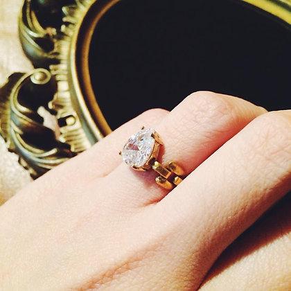 =Alice W 訂製款= 鋯石黃銅戒指