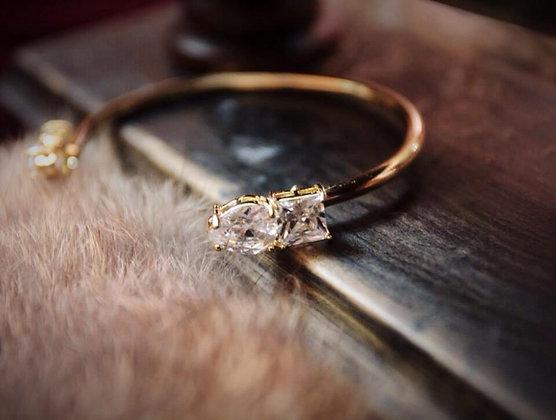=Alice W 訂製款= 黃銅鍍18K金鋯石手環