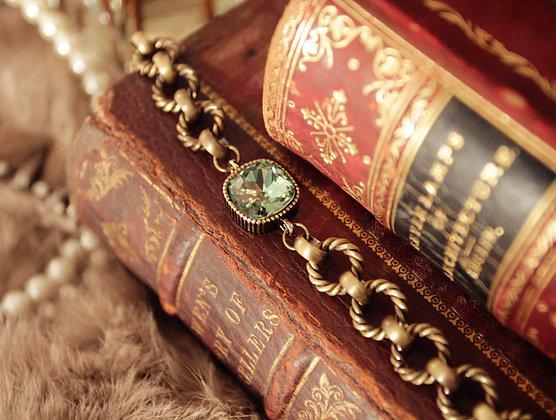 =Alice W 訂製款= 施華洛世奇水鑽復古銅製手工手鍊