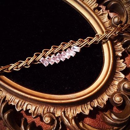 =Alice W 訂製款= 排鑽黃銅編織手鍊