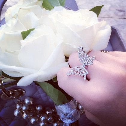 水鑽蝴蝶戒指