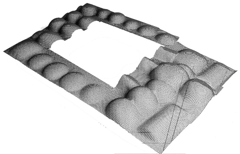 3D Model of the roof of the Small Caravanserai