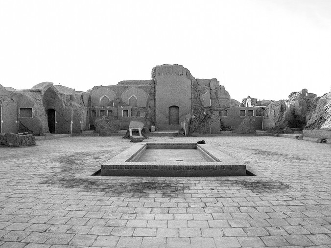 Courtyard of the School of Mirza Naim