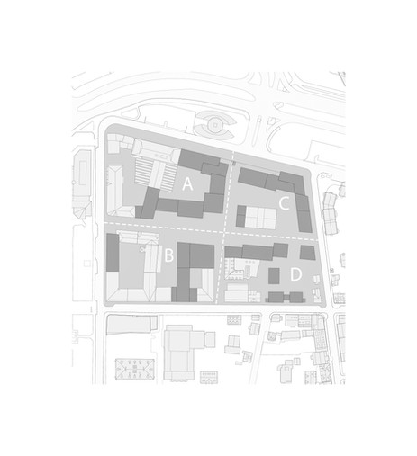 Site divided into four zones