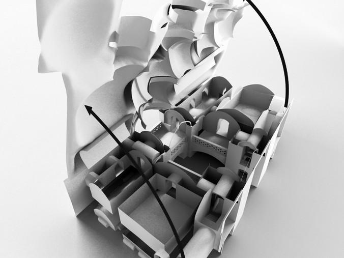 3D Model of the Small Caravanserai