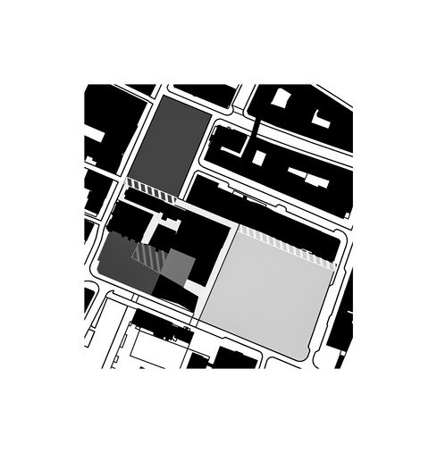 Different types of public spaces: square, park and covered square