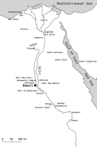 Geographical situation of Bawit