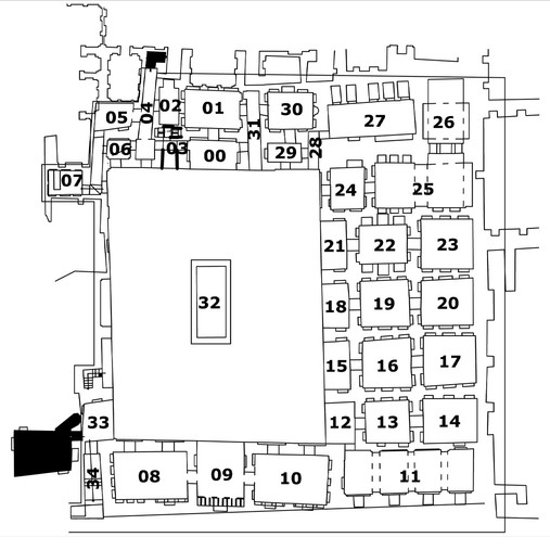 Site plan of the School of Mirza Naim
