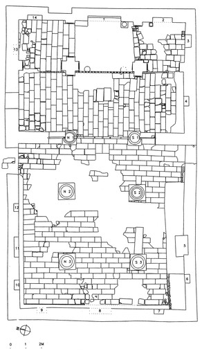 Plan of church excavated in 2003-2005