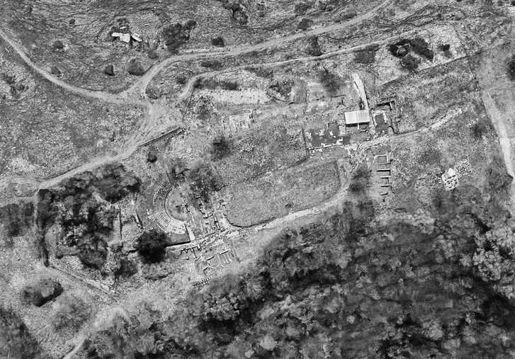 Part of the ancient Roman city, Tusculum, situated 24 km southeast of Rome