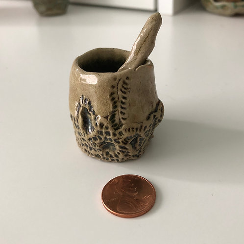 Textured Cup and Spoon