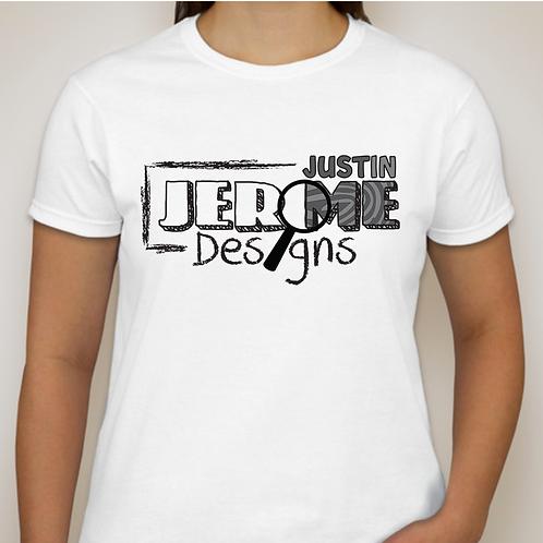 Justin Jerome Designs Brand Womens T-shirt White
